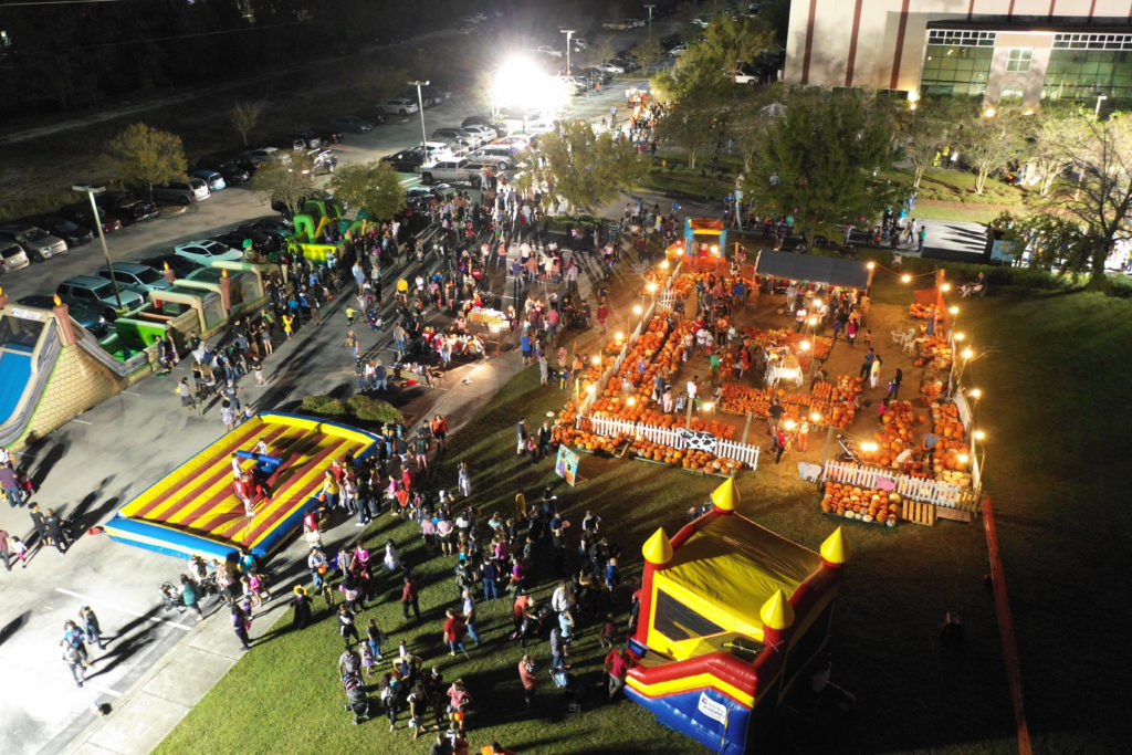 Aerial view of Fall Festival